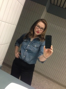 Yes...this was taken in the restroom at my work--only spot with a mirror.  *sigh* lol.